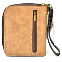 Chala Handbags Faux Leather Kitty Cat & Butterfly Zip Around Wristlet Wallet image 2