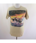 Diamond Star P-40 Warhawk Plane Tan Graphic T Shirt Mens Sz M - $27.96