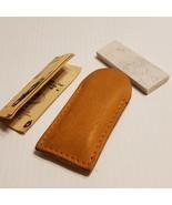 Vintage Ka-Bar Genuine Arkansas Oilstones & Leather Pouch  - $25.00