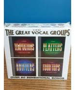 The Great Vocal Groups Temptations Drifters Four Tops Platters 4 CD Set  - $14.80