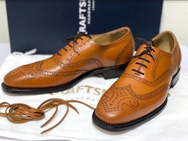 Handmade Men's Brown Leather Wing Tip Heart Medallion Lace Up Dress/Formal Shoes image 1