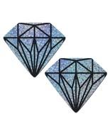 Silver Glitter Diamond Gem Nipple Pasties - $10.88