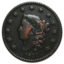 1831 Large Cent Liberty Head Coin Lot # MZ 2516