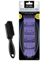 Andis Master Dual Magnet 5-Comb Set with a BeauWis Blade Brush - $24.74