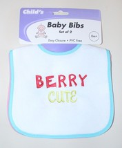 "Set of 2 ""Berry Cute"" and ""Berry Silly"" Baby Bibs - $2.99"