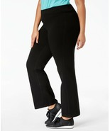 Ideology Plus Size Flex Stretch Active Yoga Pants, Black, 2X - $25.20