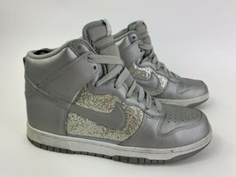 NIKE Dunk High 325203-001 Silver Glitter METALLIC Hi Basketball Shoes WO... - €41,16 EUR