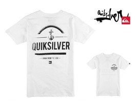 Quiksilver Boy's White T Shirt Born From the Sea  Variety of Sizes - $12.01