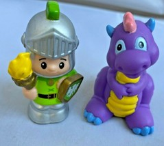 Fisher Price Little People Castle Palace Mighty Kings Parts Green Knight Dragon - $23.71