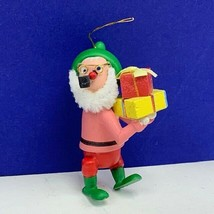 Christmas ornament W Germany wood nutcracker Santa Claus corn cob pipe g... - $19.60