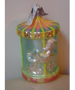 Neiman Marcus Baby's First Christmas 2004 Carousel Blown Glass Ornament ... - $25.00