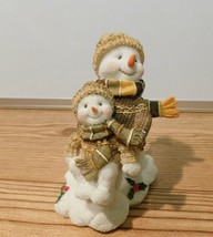 "Snowman and son figurine figure Christmas Decoration 4.5"" - $4.94"