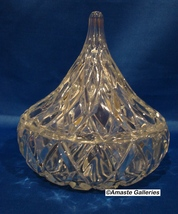 Crystal Teardrop (Hershey Kiss Shaped) Lidded Candy Dish  - $14.99