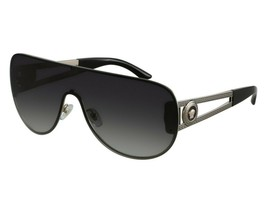 2a3fb829525c New Auth Versace Shield Black Antique Gold Medusa Sunglasses 2166 w/CASE  -ITALY -