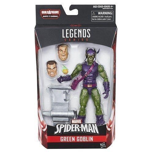 """Marvel Legends Spider-man Green Goblin 6"""" inch Action Figure  - BAF Sandman"""