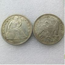 1873 SEATED LIBERTY SILVER DOLLARS - $7.00