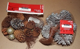 Pinecones Small Scented Bags 2ea With Silver Mix Stuff Ashland Christmas... - $7.49