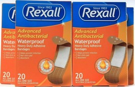 4 Packs Rexall Advanced Waterproof Heavy Duty Adhesive Absorbent 1 Size ... - $18.99
