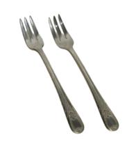 2 Antique Vintage Newport Silverplate Cocktail Forks Fork 17162 - $22.76