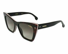 NEW Carrera Womens Cat Eye Sunglasses 1009/S 086 Dark Havana W/ Brown Gr... - $27.91