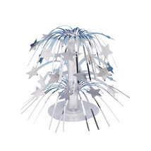 8.5 inch Mini Cascade Centerpiece Silver Stars/Case of 6 - €23,38 EUR