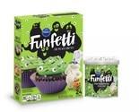 Pillsbury Funfetti Slime Cake Baking Mix and Monster Eye Frosting Halloween Fun