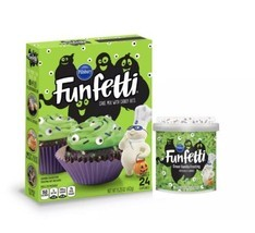 Pillsbury Funfetti Slime Cake Baking Mix and Monster Eye Frosting Hallow... - $7.99