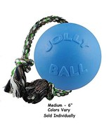 Jolly Ball Romp-N-Roll Dog Toys Rope Floating Water Tug Colors Vary Choo... - $27.05