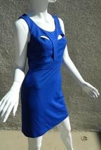 CYNTHIA STEFFE Dress Royal Blue Bodycon Cutouts Sexy Classy Dress Size 4 - $46.50