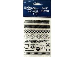 "Technique Tuesday Clear Cling Stamp Set ""Borderline - Road Trip"" #BORT"