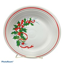 """Fiesta Dinner Plate 10.5"""" Christmas Holiday Holly & Ribbon Contemporary HLC - $24.99"""