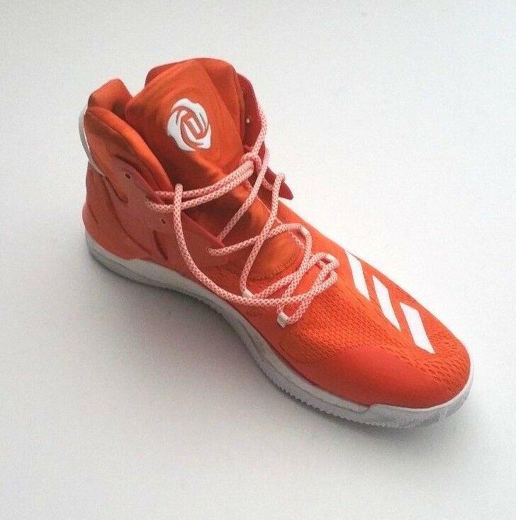 Adidas Men B38925 D Rose 7 Boost Primeknit Basketball Shoe Orange/White Size 16 image 3
