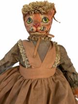 "Vintage Michael Berger Figure Figurine Art Sculpture Orange Cat Doll 21"" image 12"
