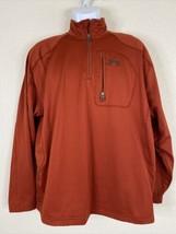 Under Armour Men Size L Dark Red Jogging Jacket Sweatshirt Zip Pocket - $25.20