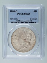 1884-O $1 Silver Morgan Dollar Graded by PCGS as MS-63! Gorgeous Morgan! - $74.24
