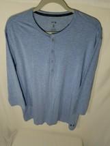 Under Armour Athlete Sleepwear Henley Shirt Men's Size XL Blue Modal 130... - $49.49