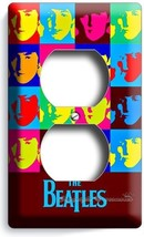 THE BEATLES POP ART JOHN GEORGE PAUL RINGO DUPLEX OUTLET COVER ANDY WARH... - $8.09