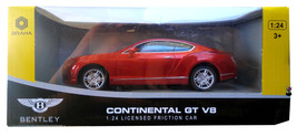 New Red Bentley Continental GT V8 1:24 Scale Mo... - $24.68