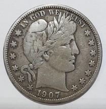 1907D Liberty Barber Head Half Dollar 50¢ Silver Coin Lot 818-27