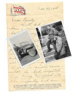 1944 Military USO Letter Head and Envelope Photos Myrtle Beach SC to RI - $18.00