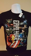 (1A) NWT Gap Youth's Captain America Civil war T-Shirt 10-11Yr Old Size L Marvel - $14.85