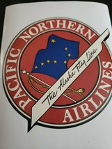 Pacific Northern Airlines - Luggage Sticker, Label, Advertising, Retro A... - $12.86