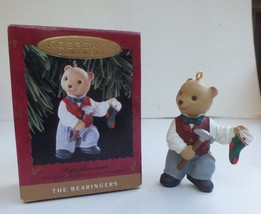 Vintage Hallmark 1993 The Bearingers Papa Bearinger Bear Christmas Ornament - $7.81