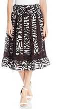 NWT NY Collection Women's Printed Knee Length Paneled Skirt with waistband - $12.99