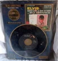 Elvis Presley Blue Christmas Gold Standard Plaque NEW - $26.60