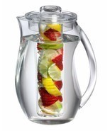 BPA free Transparent Pitcher for Fruit Infusion Flavor Citrus Wedges Her... - £29.46 GBP