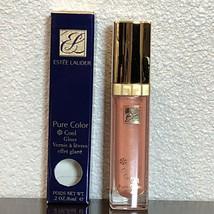 Estee Lauder Cool Melon 802 Pure Color Cool Gloss Lipgloss Full Size New In Box - $14.98