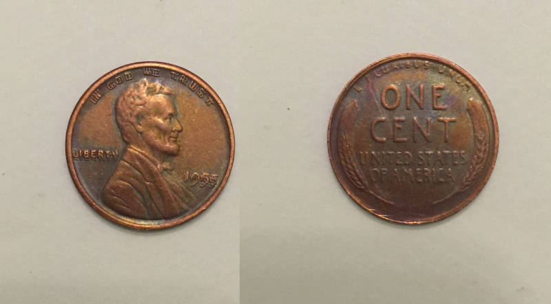 Primary image for 1955 Double Die Lincoln Wheat Cent Penny - Replica - FREE SHIPPING