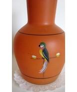 Art Deco Tiffin Parrot Orange Vase Base Art Deco 1920s Glass - $48.00