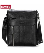 KAVI'S® Genuine Leather Men's Crossbody Bag Casual Business High Quality... - $52.73